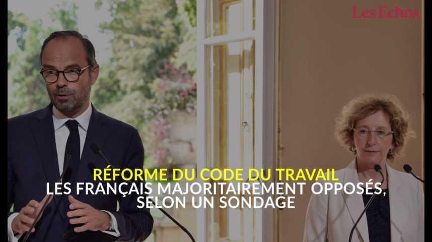 Illustration pour la vidéo Réforme du code du Travail : les Français majoritairement opposés, selon un sondage