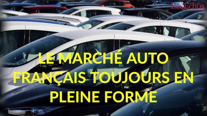Illustration pour la vidéo Le marché auto français toujours en pleine forme