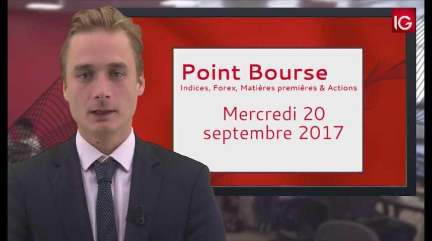 Illustration pour la vidéo Point Bourse IG du 20.09.2017
