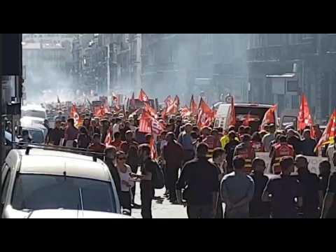 Marseille manifeste contre la réforme du Code du Travail