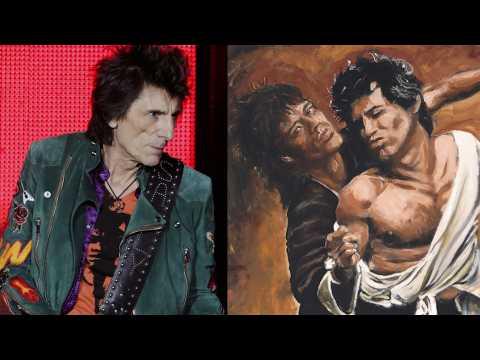 Ron Wood, guitariste des Rolling Stones et... peintre (plutôt doué)