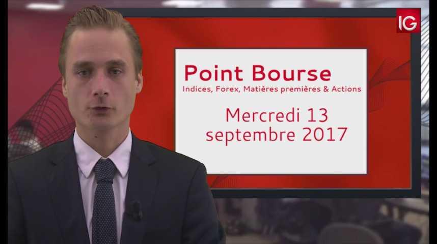 Illustration pour la vidéo Point Bourse IG du 13.09.2017