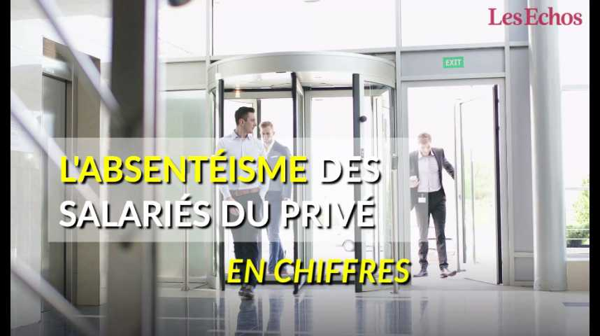 Illustration pour la vidéo L'absentéisme des salariés du privé en chiffres