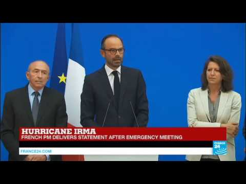 Hurricane Irma: French PM delivers statement after emergency meeting