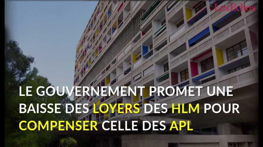 Illustration pour la vidéo Le gouvernement promet une baisse des loyers des HLM pour compenser celle des APL