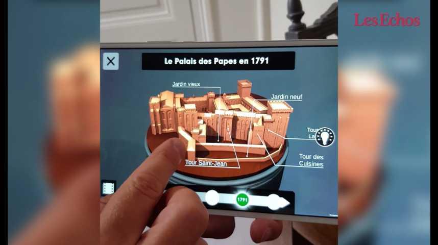 Illustration pour la vidéo Visite en réalité virtuelle du Palais des Papes d'Avignon