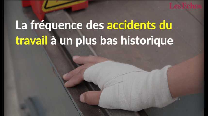 Illustration pour la vidéo La fréquence des accidents du travail à un plus bas historique