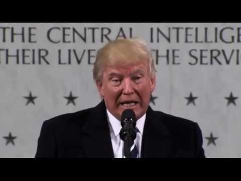 """Trump à la CIA : """"Je vous aime"""""""