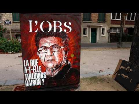 """La couverture de """"L'Obs"""" dessinée par le street artist C215"""