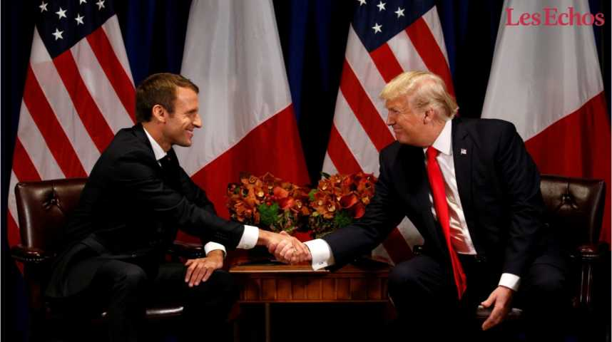 Illustration pour la vidéo Trump et Macron, les meilleurs amis du monde