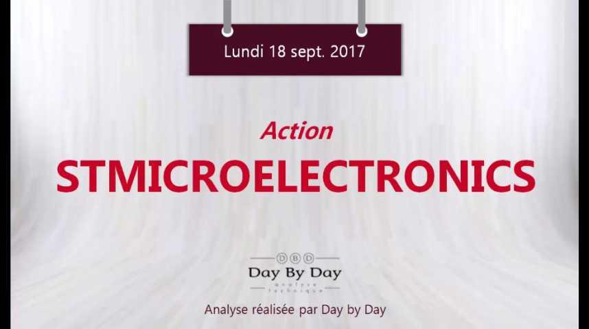 Illustration pour la vidéo Action STMicroelectronics - reintegration du CAC 40 - Flash analyse IG 18.09.2017