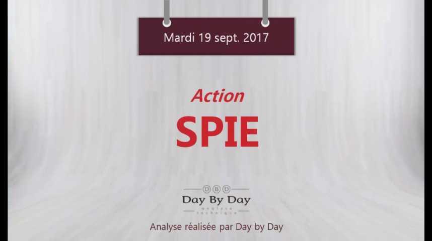 Illustration pour la vidéo Action SPIE - risque baissier sous la resistance majeure - Flash Analyse IG 19.09.2017