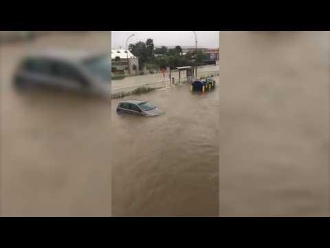 La Guadeloupe inondée après le passage de l'ouragan Maria