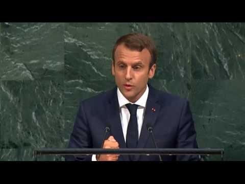 """""""Ce ne sont pas les murs qui nous protègent"""" : Macron tacle implicitement Trump devant l'ONU"""