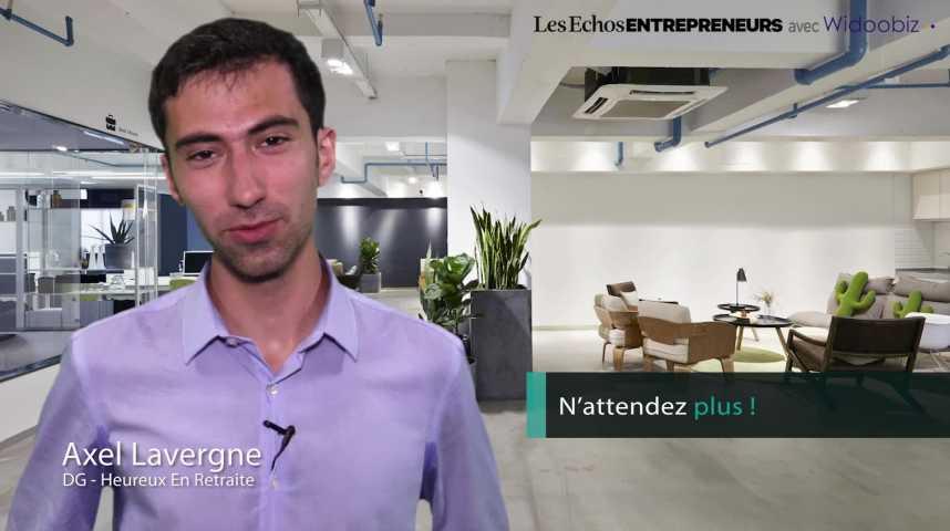 Illustration pour la vidéo Axel Lavergne - étudiant entrepreneur