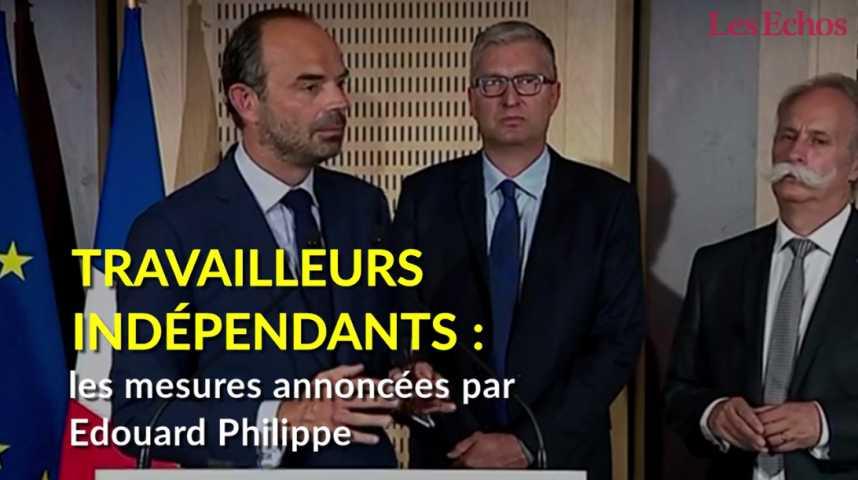 Illustration pour la vidéo  Travailleurs indépendants : les mesures annoncées par Edouard Philippe