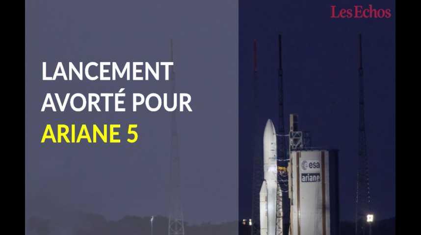 Illustration pour la vidéo Lancement avorté pour la fusée Ariane 5