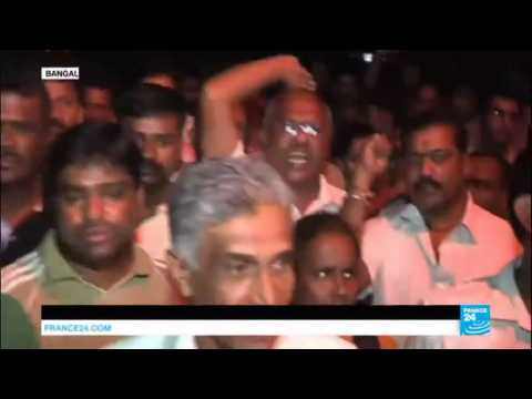 India: Shocked protesters gather outside the home of murdered journalist Gauri Lankesh
