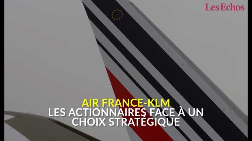 Illustration pour la vidéo Air France-KLM : les actionnaires face à un choix stratégique