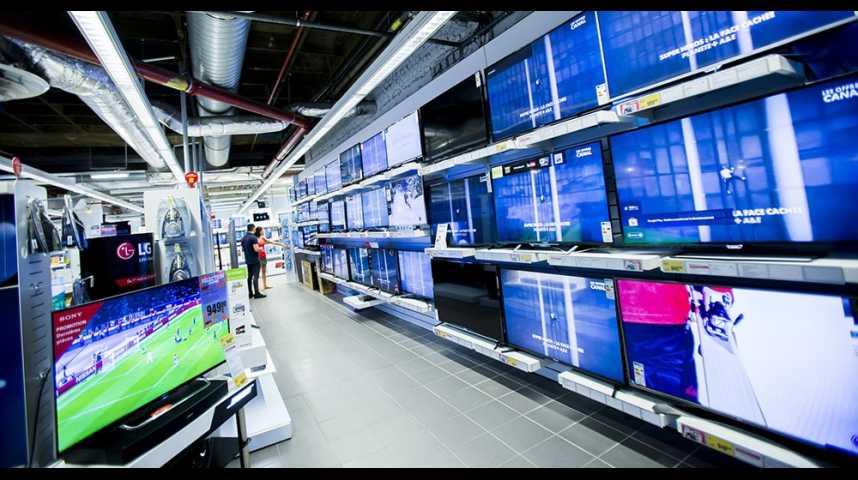 Illustration pour la vidéo Le marché français de la télévision s'écroule