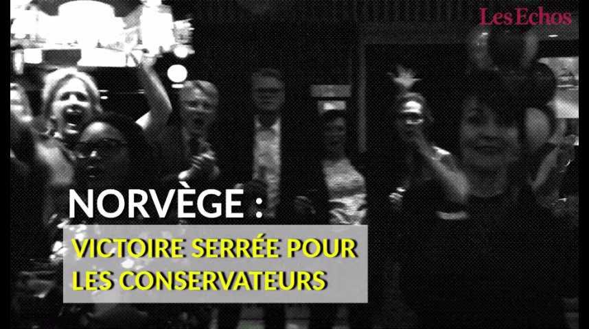 Illustration pour la vidéo Norvège : victoire serrée pour les conservateurs