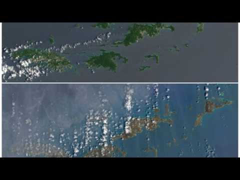 Caribbean Islands Changed Color After Hurricane Irma