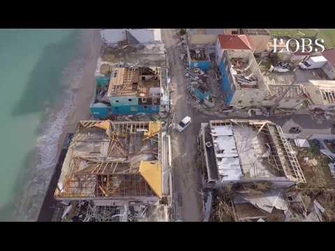Irma : les images catastrophiques d'un drone survolant l'île dévastée de Saint-Martin