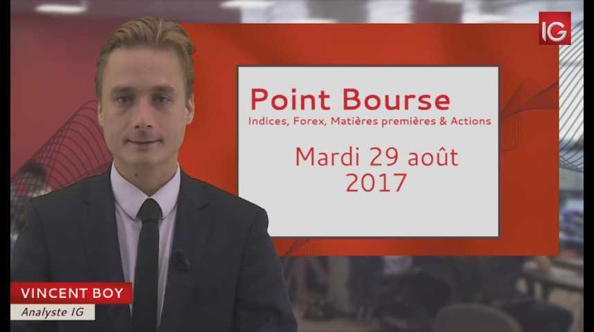 Illustration pour la vidéo Point Bourse du mardi 29 août 2017