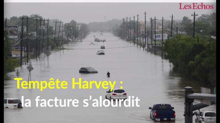 Illustration pour la vidéo Tempête Harvey : la facture s'alourdit