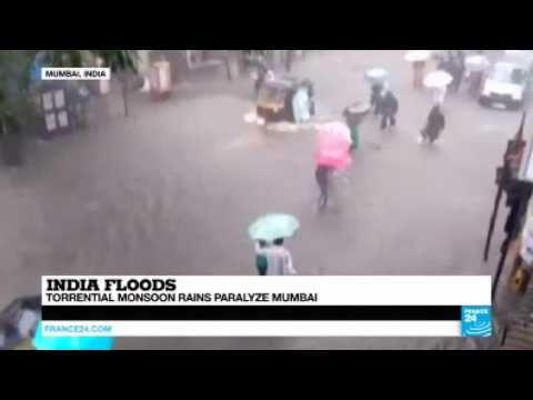 India: Torrential monsoon rains paralyze Mumbai and devastate Bihar State