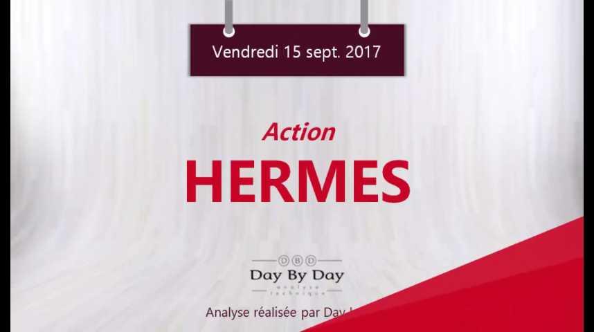Illustration pour la vidéo Action Hermes : sortie baissière du trading range - Flash analyse IG 15.09.2017