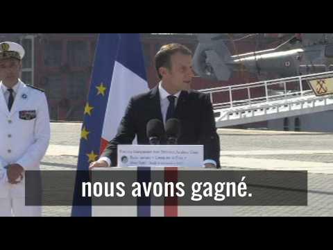 "Emmanuel Macron : A Raqqa, ""nous avons gagné"""