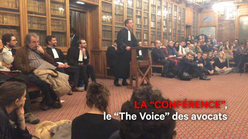 """Illustration pour la vidéo La """"Conférence"""", le """"The Voice"""" des avocats"""