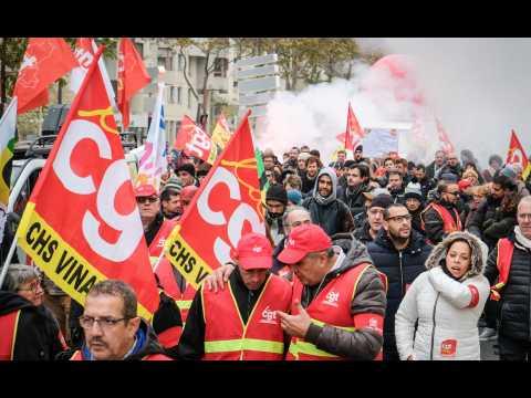 """Manifestation contre la """"politique libérale"""" de Macron : 4e round"""