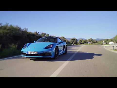 Porsche 718 Boxster GTS Driving Video in Miami Blue