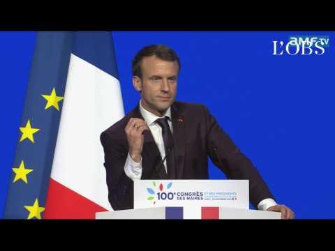 """Macron au congrès des maires : """"il n'y a pas de finance magique"""""""