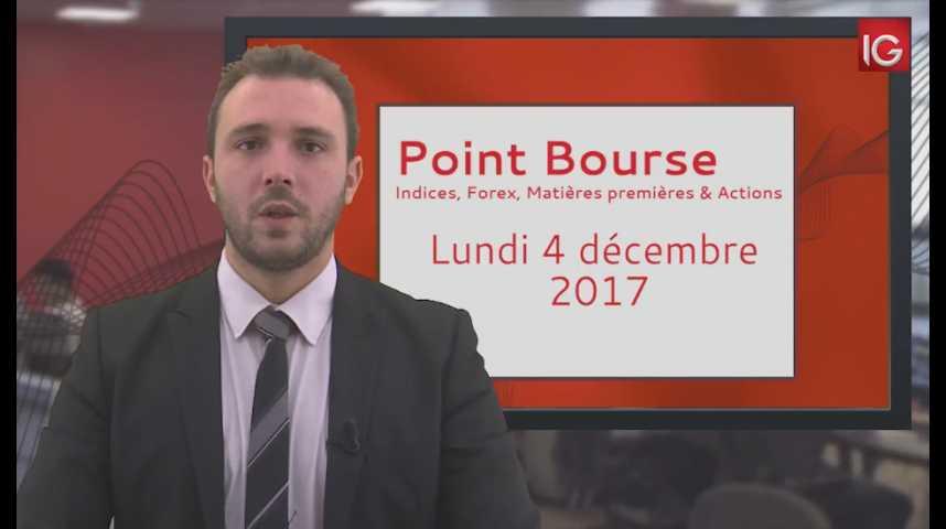Illustration pour la vidéo Point Bourse du lundi 4 décembre 2017