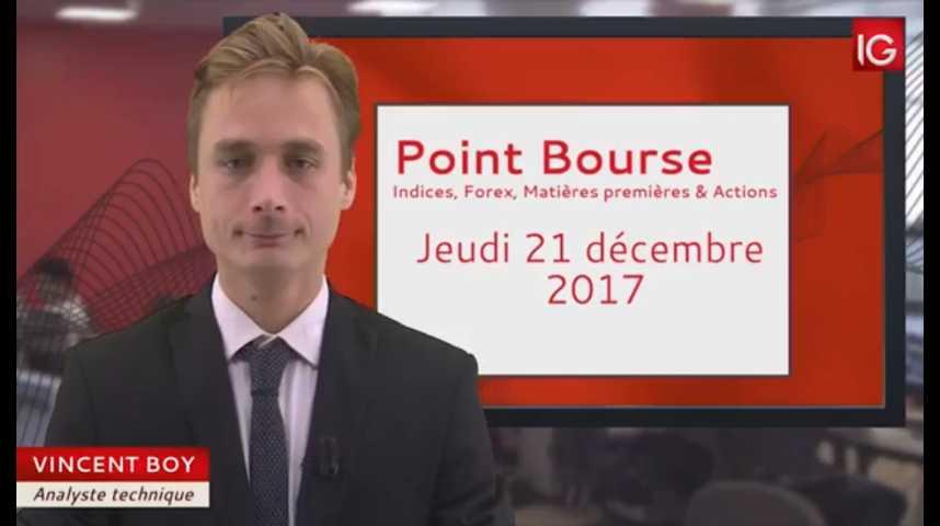 Illustration pour la vidéo Point Bourse IG du 21.12.2017