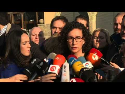 Catalan pro-independence leader Marta Rovira encourages voters