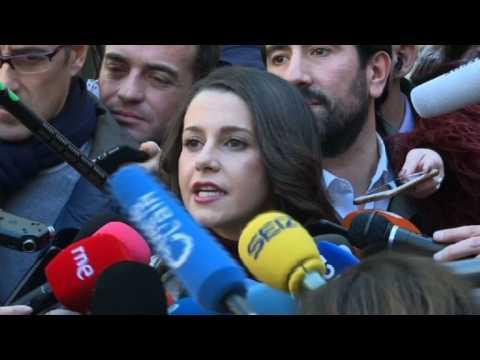 "Ines Arrimadas encourages voters in ""historic"" Catalan election"