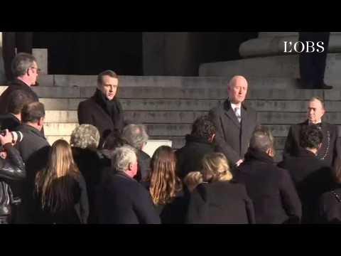 """Macron : """"Johnny Hallyday était une part de nous-mêmes, une part de la France"""""""