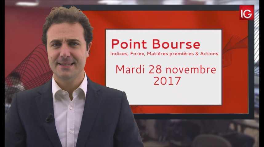 Illustration pour la vidéo Point Bourse IG du 28.11.2017