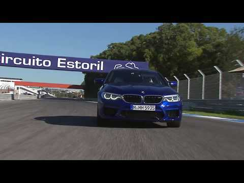 The BMW M5 on the  Race Track Car to Car camera in Estoril