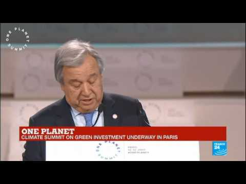 One Planet Summit: Watch United Nations Secretary General Antonio Guterres'' address