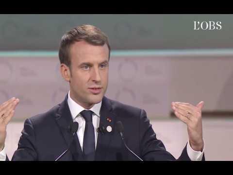 """Macron : """"Sur le réchauffement climatique, on est en train de perdre la bataille"""""""