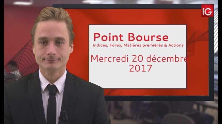 Illustration pour la vidéo Point Bourse IG du 20.12.2017