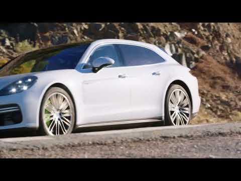 Porsche Panamera Turbo S E-Hybrid Sport Turismo Driving Video in Carrara White Metallic