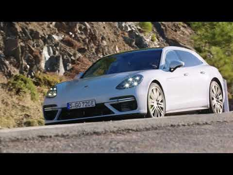 Porsche Panamera Turbo S E-Hybrid Driving Video in Carrara White Metallic