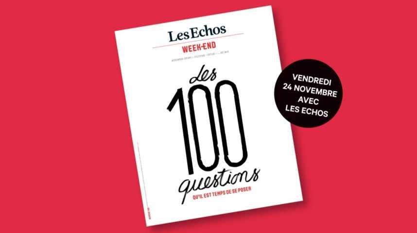 Illustration pour la vidéo Les Echos Week-End fêtent leur numéro 100 !