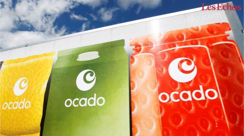 Illustration pour la vidéo Monoprix réplique à Amazon avec le britannique Ocado